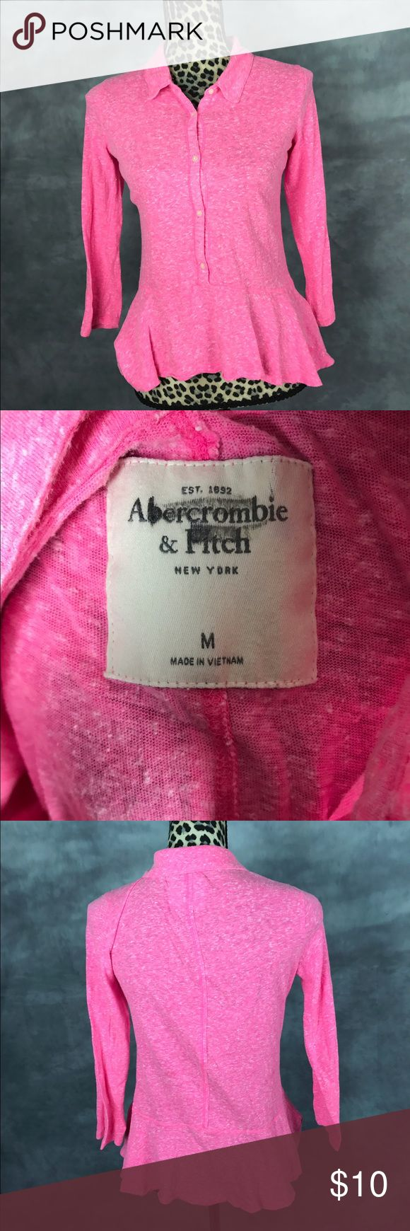 Abercrombie And Fitch t-shirt hot pink Great used condition Abercrombie & Fitch Tops Tees - Long Sleeve