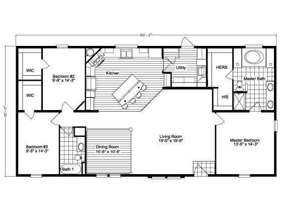 60 X 30 Floor Plan