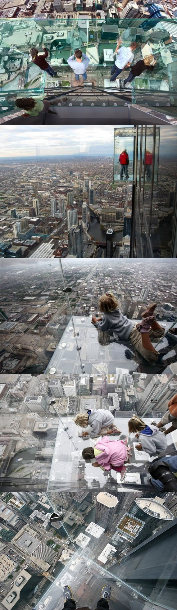 """The Ledge"" at The Willis Tower in Chicago, Illinois"