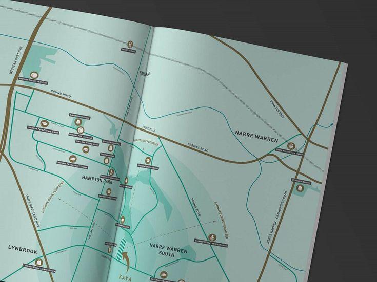 Small & Co - Kaya, Hampton Park - Brochure Map Design