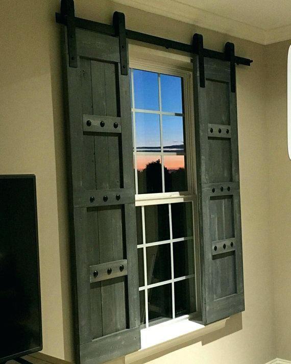 24 Inch Barn Door Interior Window Barn Shutters Sliding Door