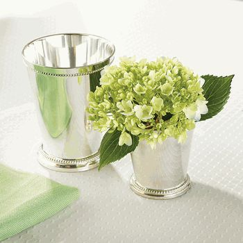 small silver mint julep cupvase