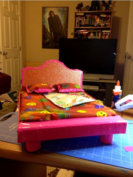 Easy Cardboard And Duct Tape Bed For 18 Quot Dolls Mattress
