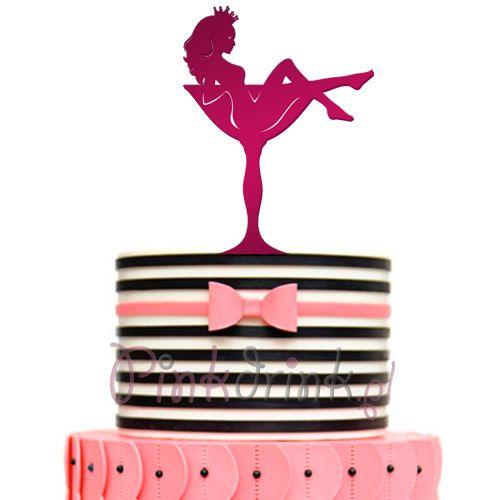KONTUR różowy dekoracja na tort Glam Diva