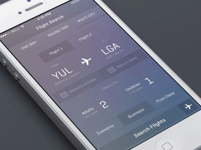 iOS7 Flight App Animation by Alexander Haniotis