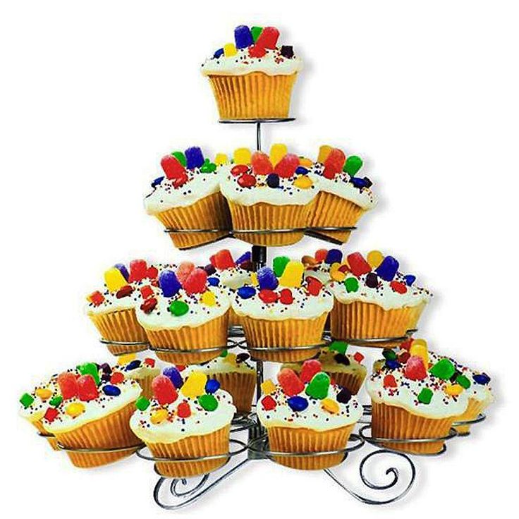 4-Tier Cupcakes Dessert Stand   Dessert stand, Birthday ...