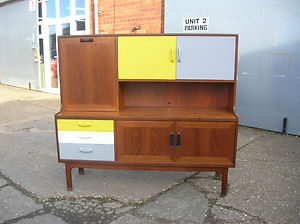 STRIKING UPCYCLED RETRO G PLAN TEAK SIDEBOARD