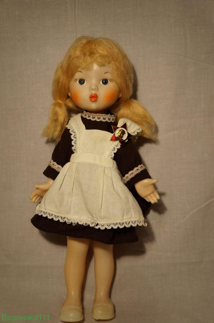 Кукла СССР школьница Ленигрушка