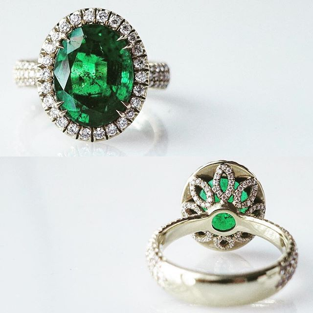 Bijoux De Lee NYC. A 4 carat colombian emerald and diamond ring. #muzo @bdl.nyc