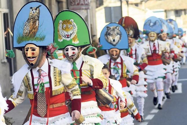 Entroido (Carnaval). Cigarrons en Verín. Ourense. Galicia. España.