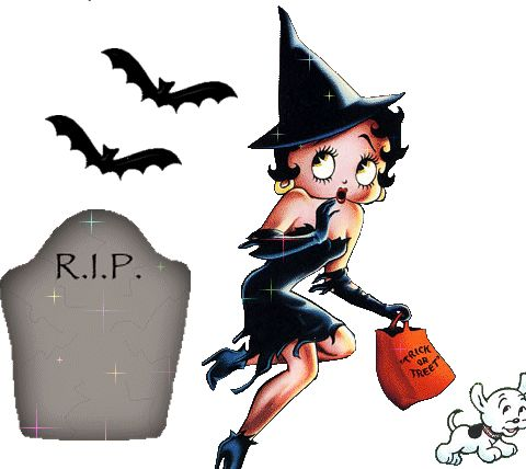 Imágenes de Betty Boop para Halloween.