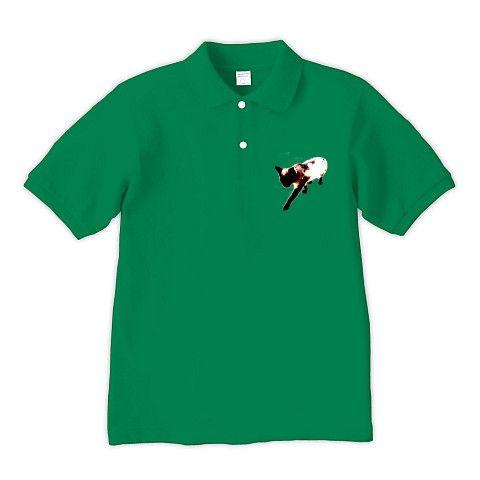 DOKONJYOUシャム夫Art ポロシャツ Pure Color Print(グリーン):ちょっとアートなシャム猫シャム夫さんです。byち畳工房:ちょっと笑えるパロディとシャム猫がモチーフの商品です