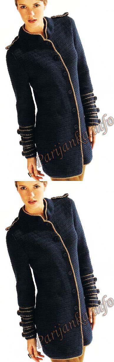 Куртка крючком (ж) 11*17 Cheval Blanc. Обсуждение на LiveInternet - Российский Сервис   рукоделие