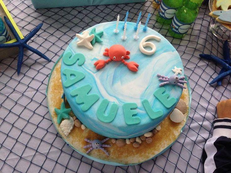Birthday cake marine theme