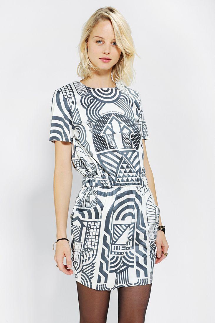 Ad Hoc Digital-Print Dress
