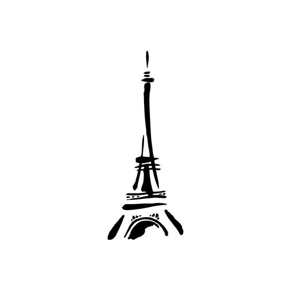 Eiffel Tower - Brush strokes