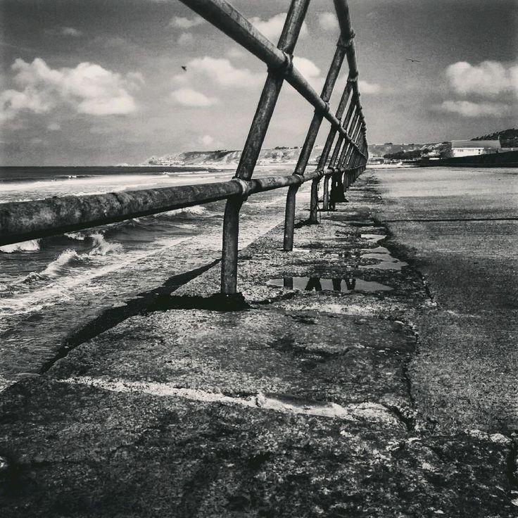 St. Ouens Bay Jersey - surfers' paradise they say. Code to join tsū.co: niezabitowski  #jerseyci #surfing #bnw #blackandwhite #cloudysky #monochrome #seaside #noir #czarnobiale #tsu