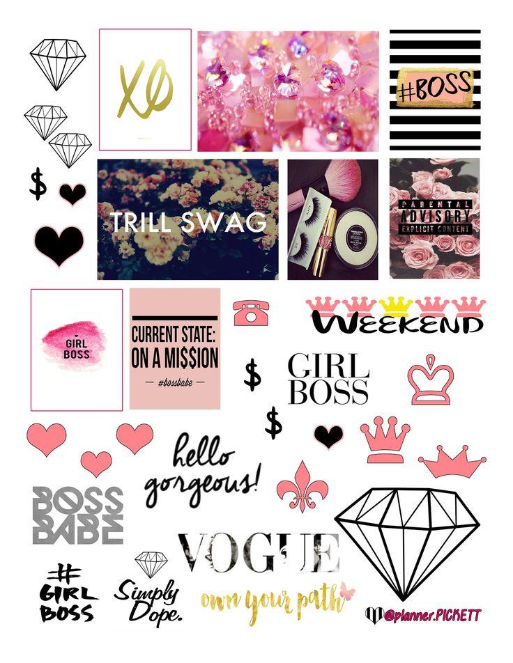 @planner.PICKETT: Girl Boss Free Planner Printable Stickers