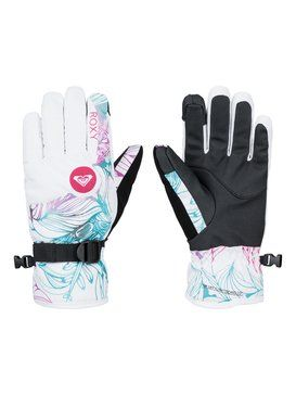 roxy, Jetty Snowboard Gloves, Bright White-6 (wbb6)