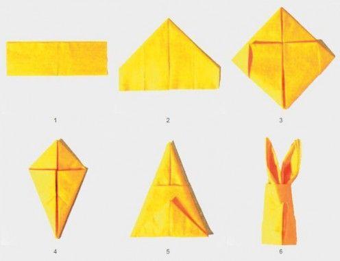 How to fold a napkin into an adorable bunny / Easter decor