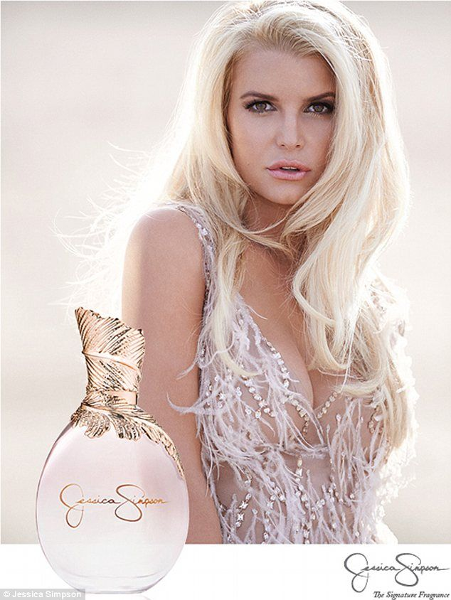 The smell of success: Jessica Simpson looks show-stopping in the campaign for her new eponymous fragrance