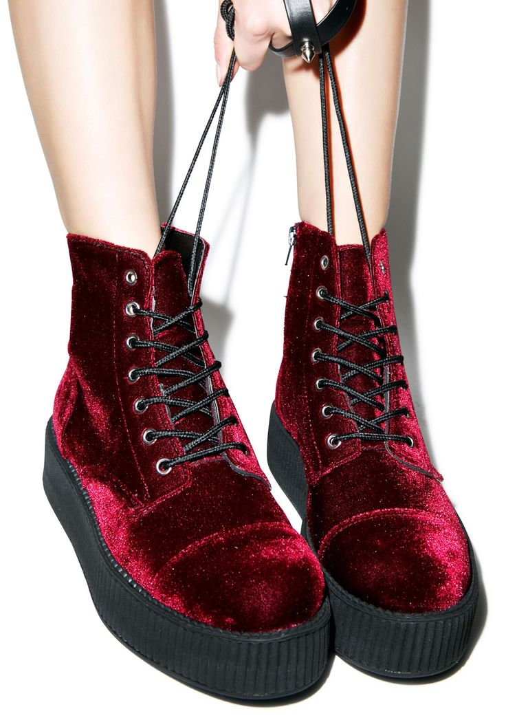 T.U.K. Velvet Creeper Boots | Dolls Kill