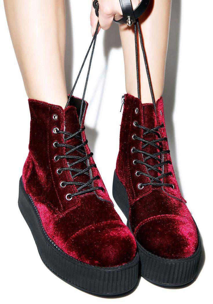 T.U.K. Velvet Creeper Boots | Dolls Kill