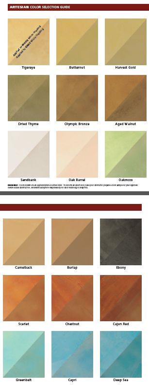 beautiful concrete staining coloring options from brickform artesian water based stains color chart - Beton Color