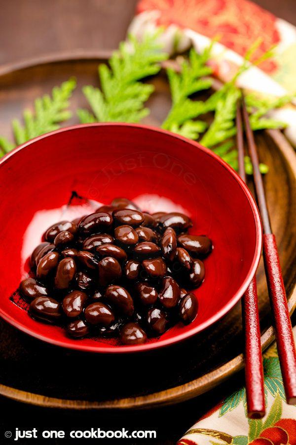 Kuromame (Sweet Black Soybeans, 黒豆)   JustOneCookbook.com