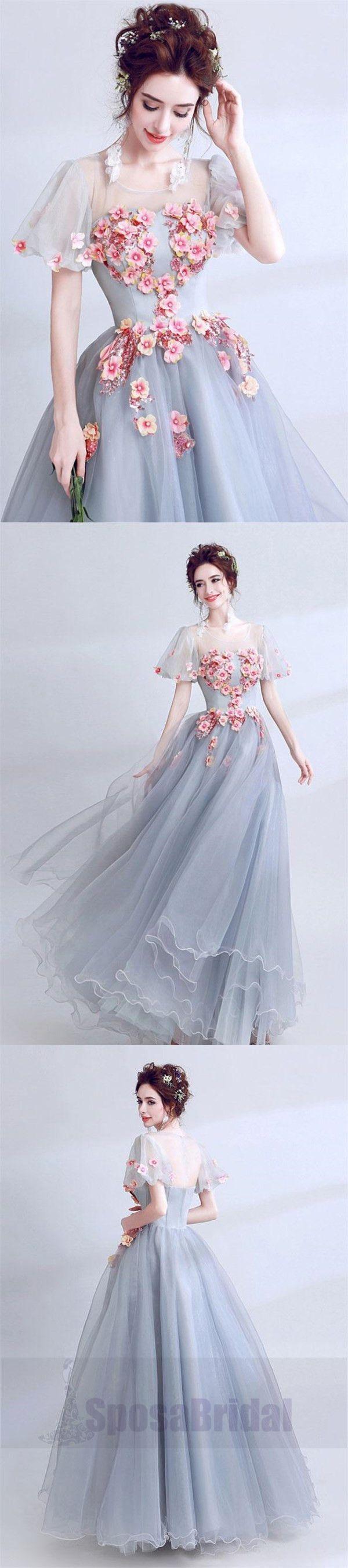 Custom Short Sleeves Pretty Gorgeous Formal High Quality Prom Dresses, Evening Dresses, PD0469  #promdress#fashion sposabridal#