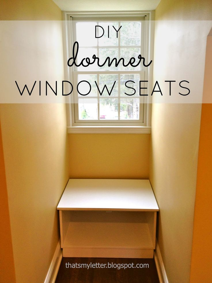 """That's My Letter: """"D"""" is for Dormer Window Seats, open base bench"""