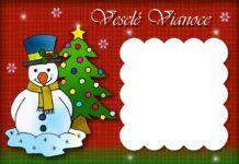 Vianočná pohľadnica pre deti