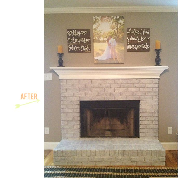 On Wednesday I shared my Labor Day weekend project with you all, our white-washed fireplace and painted mantel. Several of you requested a tutorial, which I teased you with earlier this week but ju…