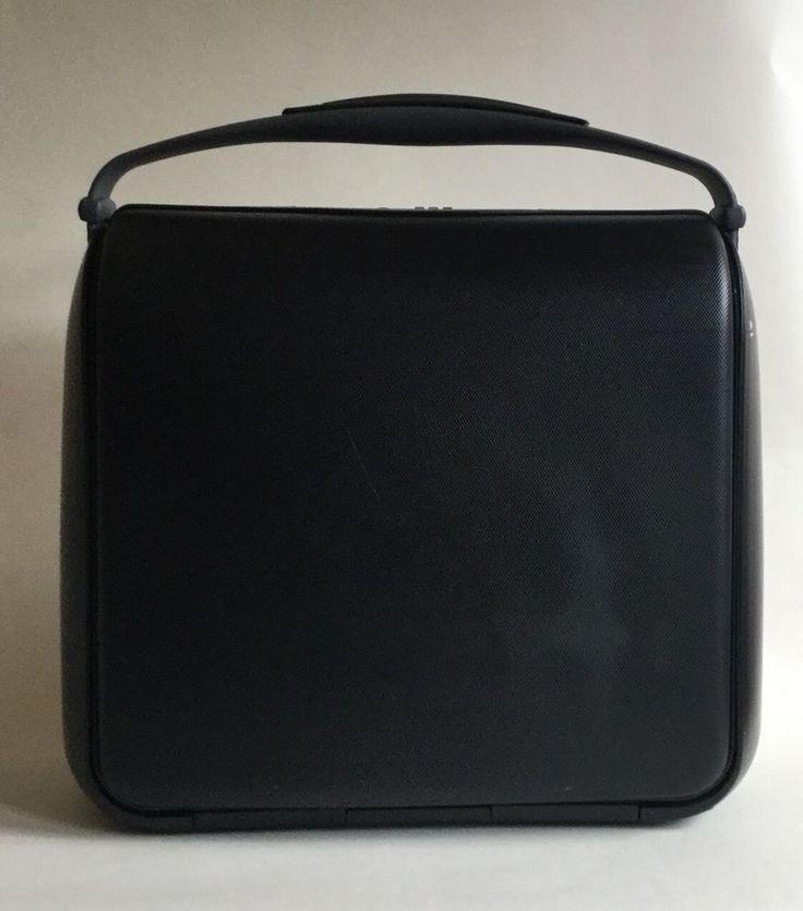 Carlton Hard Exterior Black Medium Size Plastic Weekend Vanity Case     eBay