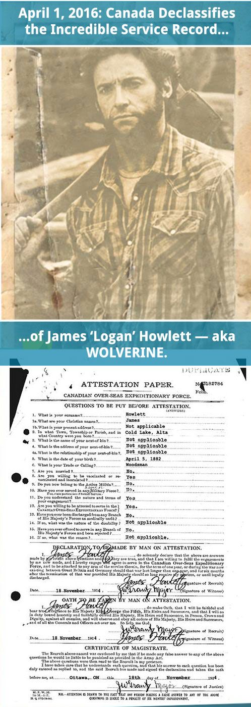 "We thank you for your service, James ""Logan"" Howlett."