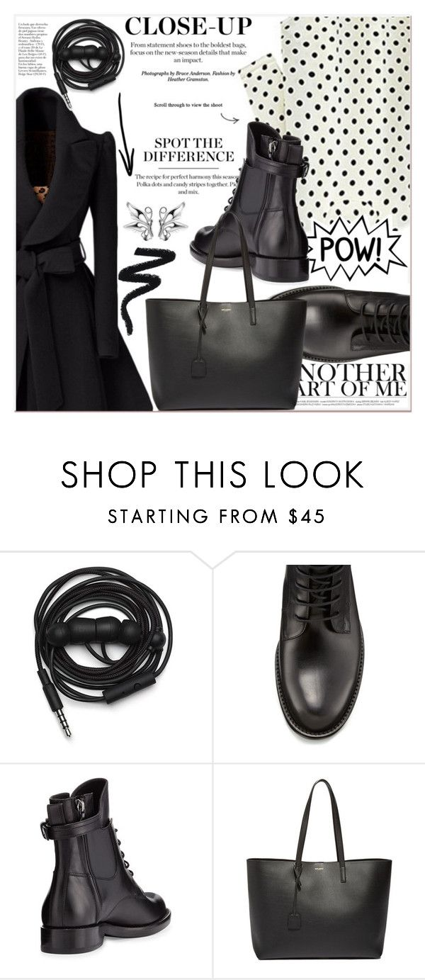 """""""Close-Up"""" by lucky-1990 ❤ liked on Polyvore featuring Urbanears, Lanvin and Yves Saint Laurent"""