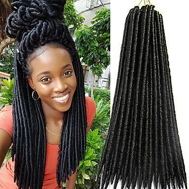 Faux+Locs+Crochet+Braids+Twist+havana+mambo+Hair+Extensions+African+Braiding+Kanekalon+Soft+Dread+Locks+24roots/pack+synthetic+hair+braiding+–+USD+$+7.33