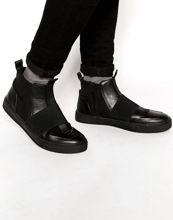 Изображение 1 из Черные кроссовки из неопрена с эластичными ремешками Dark Future