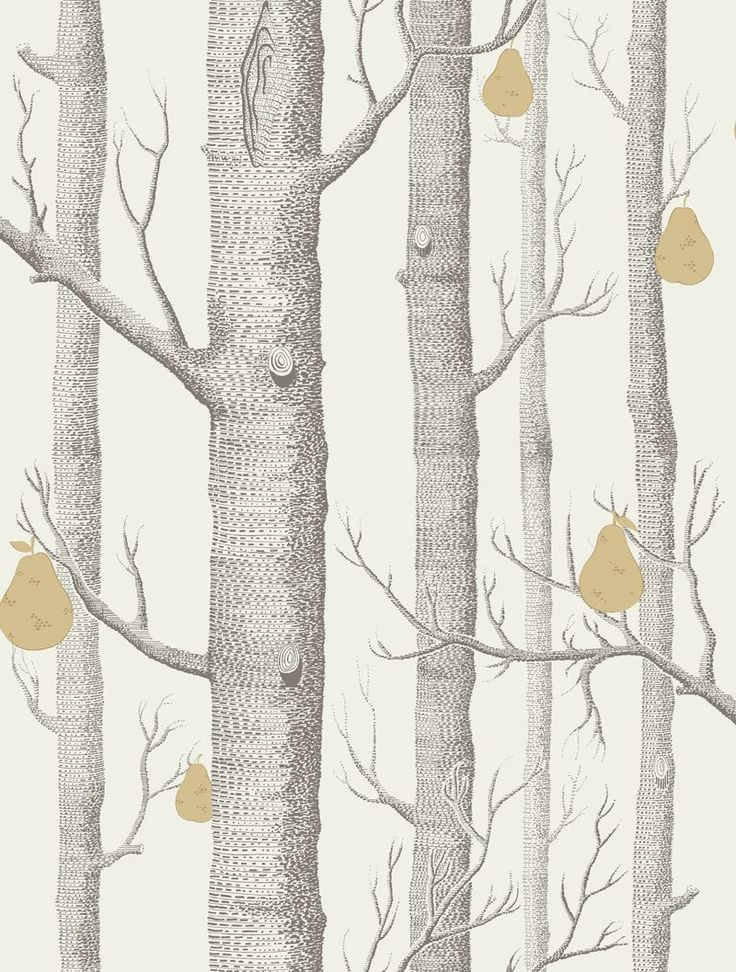 Cole & Son Wallpaper 95/5032.CS Woods & Pears Charcl/Lin/Gld