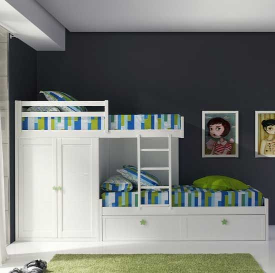 Tempat Tidur tingkat anak multifungsi