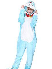 Kigurumi Pigiama Gatto Calzamaglia/Pigiama intero Halloween Sleepwear Animal Blu Collage Vello di corallo Kigurumi UnisexHalloween /