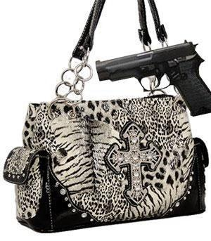 Animal Print Concealed Weapon Purse