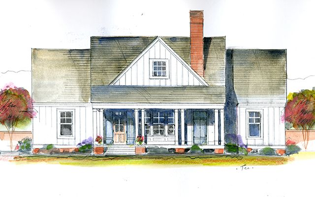 Magnolia Cottage - Southern Living Homes Plan SL-1845