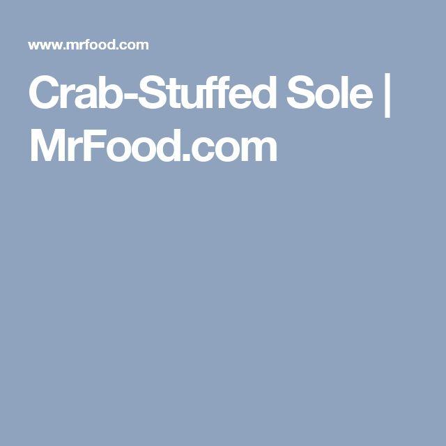 Crab-Stuffed Sole   MrFood.com