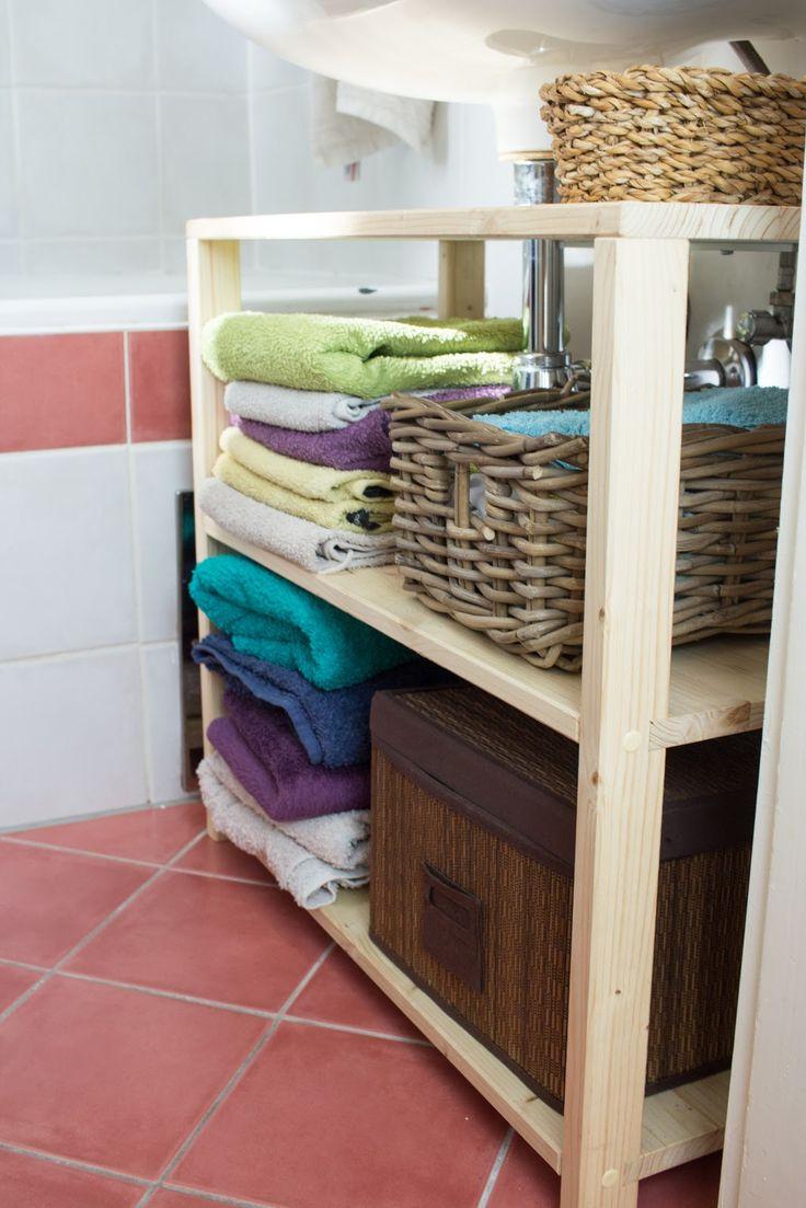 Diy waschbeckenregal f r das badezimmer bauen vernetzteuch diy pinterest badezimmer - Diy badezimmer ...