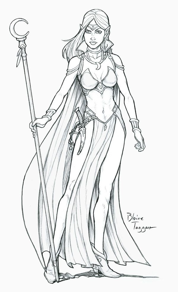 Niana is a Mage. It's not known if she obtained her mystic powers through formal training as a wizard does or if her powers come to her innately. She wields a Warstaff, an item generally carr...