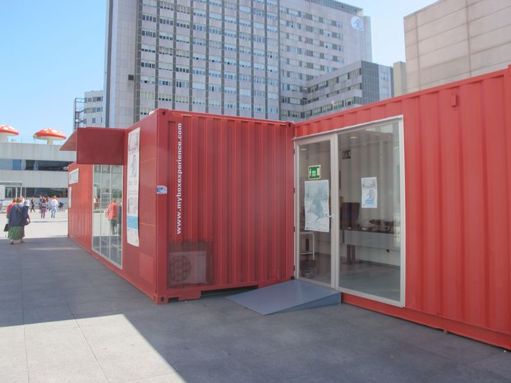 Container stand en el hospital de la paz de madrid by my box stand pinterest - Shipping container homes el tiemblo spain ...