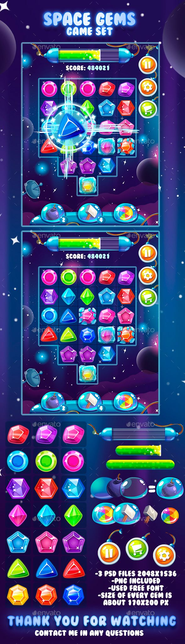 "Check out my @Behance project: ""Space Gems Game Asset"" https://www.behance.net/gallery/47009175/Space-Gems-Game-Asset"