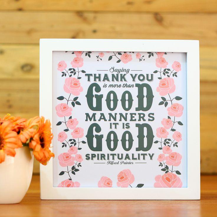 """Thank You (APR16-04)Selalu ucapkan dua kata yang simpel ini, yaitu """"terima kasih"""" di saat kita merasa dipermudah. Karena mengucapkan terima kasih merupakan salah satu wujud rasa syukur kita. Dengan motif bunga-bunga berwarna manis dan kata-kata positif, hiasan dinding ini mampu memberikan ketenangan di ruangan kita."""