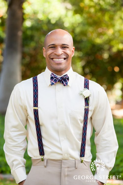This Groom S Bowtie And Suspender Combination Is Perfect Eyeshot Photography Men Fashion Pinterest Wedding Attire